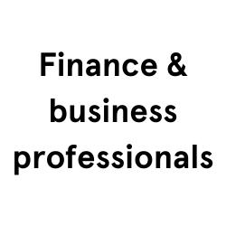 Finance & business professionals