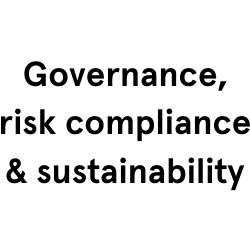 Governance, risk compliance & sustainability